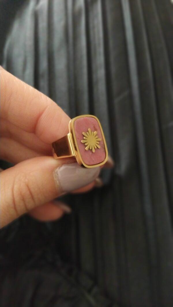 Anelem aço dourado ajustável